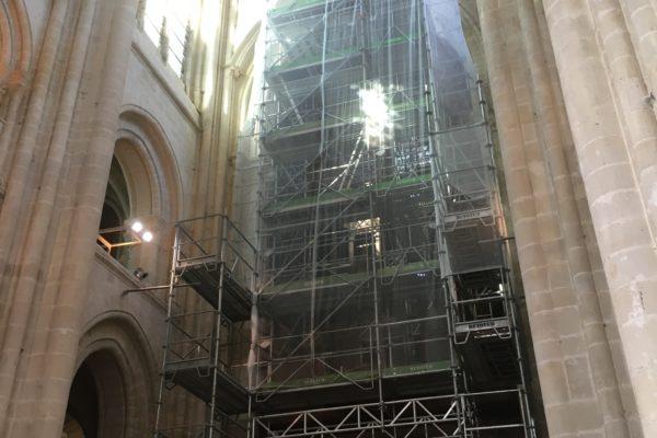 le grand orgue en travaux - échafaudage 1