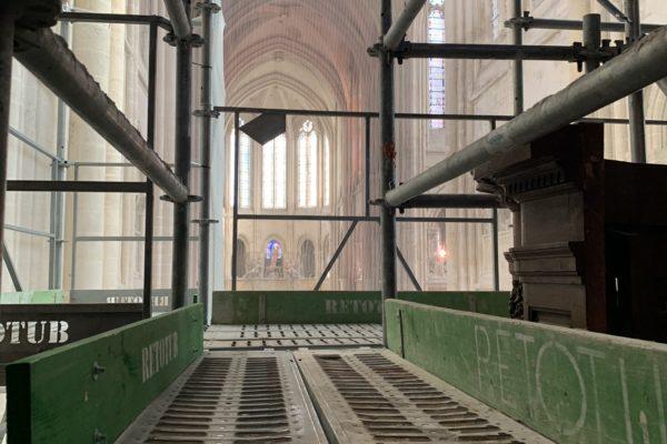 l'orgue en travaux - échafaudage 6